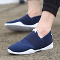 Fashion Patchwork Men Shoes Summer Comfortable Men Casual Shoes CanvasFlat Heel Slip On Elastic Plimsolls  Size 39-44 Driving