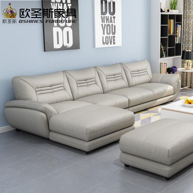 € 311.89 5% de réduction|Canapé turc meubles noir et blanc moderne en forme  de l coin en cuir brillant sectionnel canapé ensemble conceptions pour ...