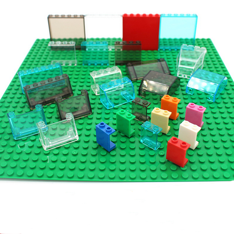 WANGGE Free Shipping!MOC DIY building enlighten block bricks Compatible With  Particles transparent ABS glass tablet  plate free shipping manor 3 diy enlighten block bricks compatible with other assembles particles