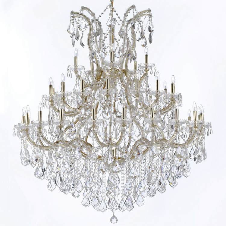 Hotel Lobby Chandelier Maria Theresa Crystal Chandeliers Large Luxury Big Hanging Lamps Home Light Lighting with K9 Crystals european crystal chandelier living room decoration home lighting luxury glass chandeliers hotel hanging lights indoor wall lamp