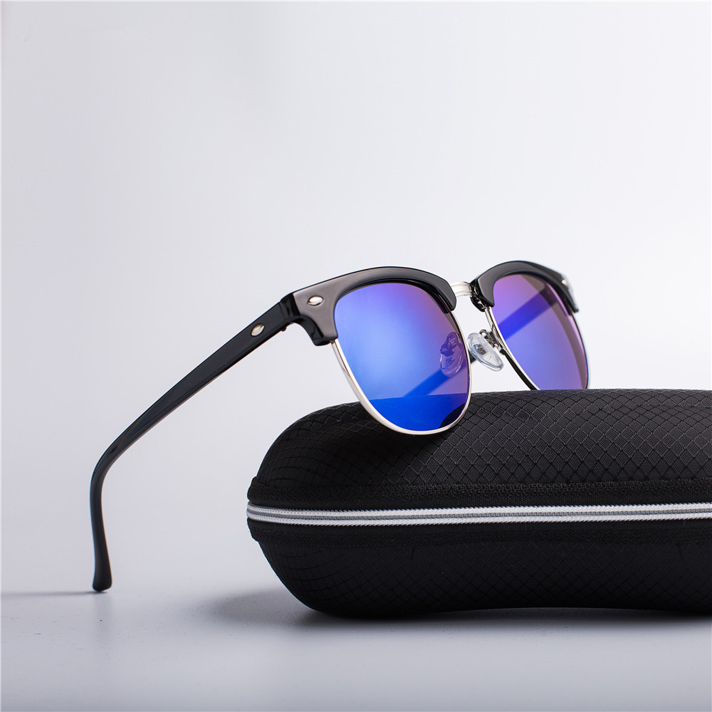 Half Metal Fashion Sunglasses Men/Women Brand Designer Retro Rivet High Quality Lens Classic Sun Glasses Female Oculos UV400