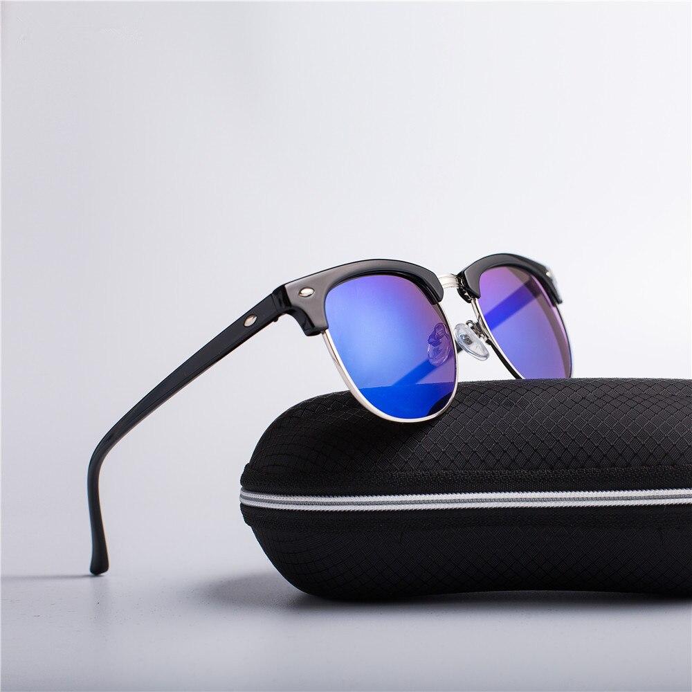eb76a63dd Metade De Metal Moda Óculos De Sol Dos Homens/Mulheres Marca Designer Retro  Rebite de Alta Qualidade Lens Clássicos Óculos de Sol Feminino Oculos UV400