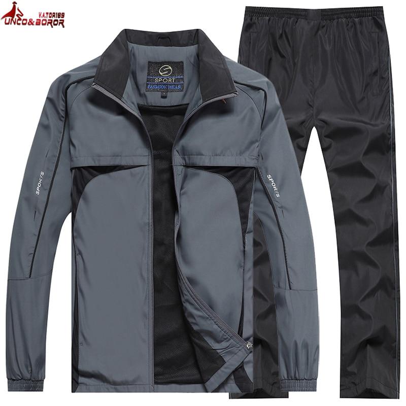 New Men's Spring Autumn Sportswear Brand Tracksuit Male Outwear 2pcs Sweatshits + Pant Set Casual Track Suit Men Clothing