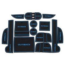 Автомобильные Аксессуары Для Subaru Outback 2010-2014 2015 2016 Силикагель нескользящей Коврики для Вытирания Ног 12-14 шт. Стикер Стиль Интерьера