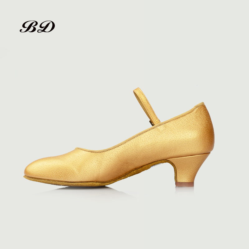BD 501 DANCE SHOES Latin Shoes Ballroom GIRL Shoe Modern JAZZ Genuine Leather Low Heel 3.5 AND 4.5 CM Professional Competition bd latin dance shoes sports shoes ballroom shoe modern oxford cloth straight sole wearable 301 jazz slip up heel 2 5 cm bdsalsa