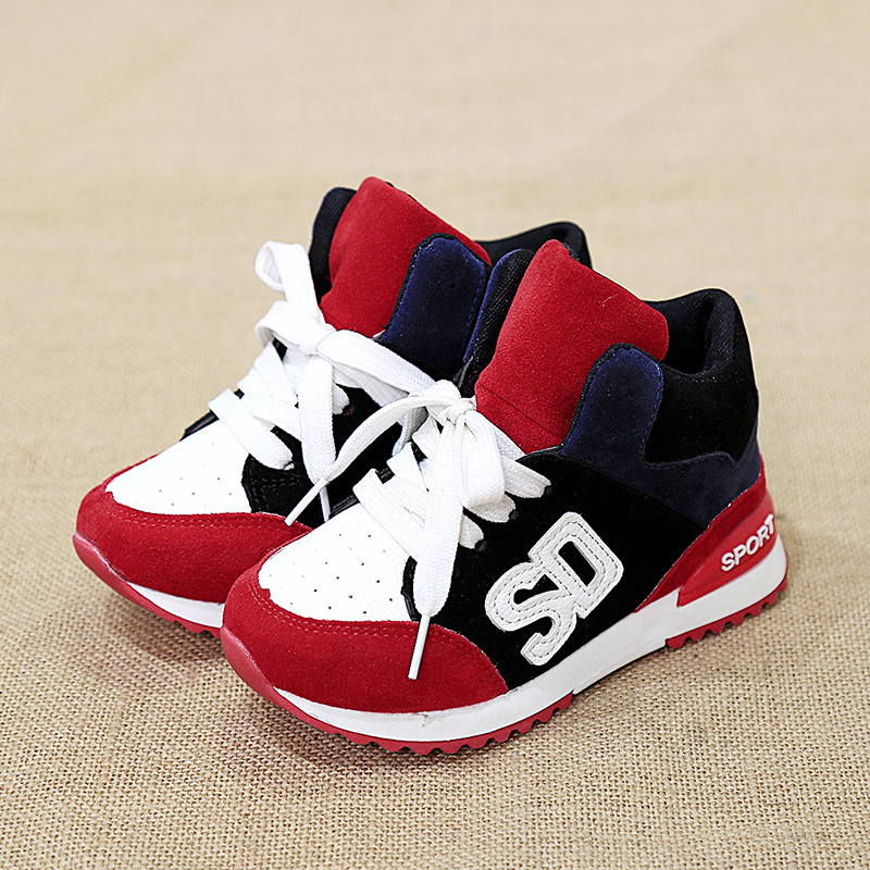 Children shoes 2017 autumn/winter boys sneaker shoes girls breathable casual shoes child sport single shoes plus cotton boots
