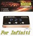 Авто Дроссельной Заслонки Контроллер для Infiniti G25 G37 FX35 FX50 Q50L автомобиль педаль руля, untra-тонкий светодиодные Золотой экран smart switch усилитель