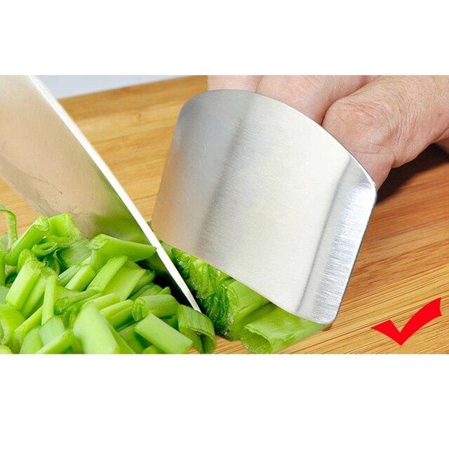 1 Pcs Finger Guard Protect Finger Hand Cut Hand Protector Knife Cut Finger Protection Tool Stainless Steel Kitchen Tool Gadgets 1