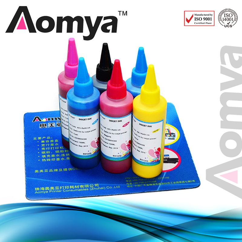 Aomya Wholesales 6 Colors Specialized Textile Ink for Epson Printers for Digital Textile Printers Pigment Based