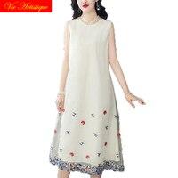 floral silk qipao summer dress robe femme ete 2018 plus size women cheongsam bohemian dresses long sexy boho loose white party