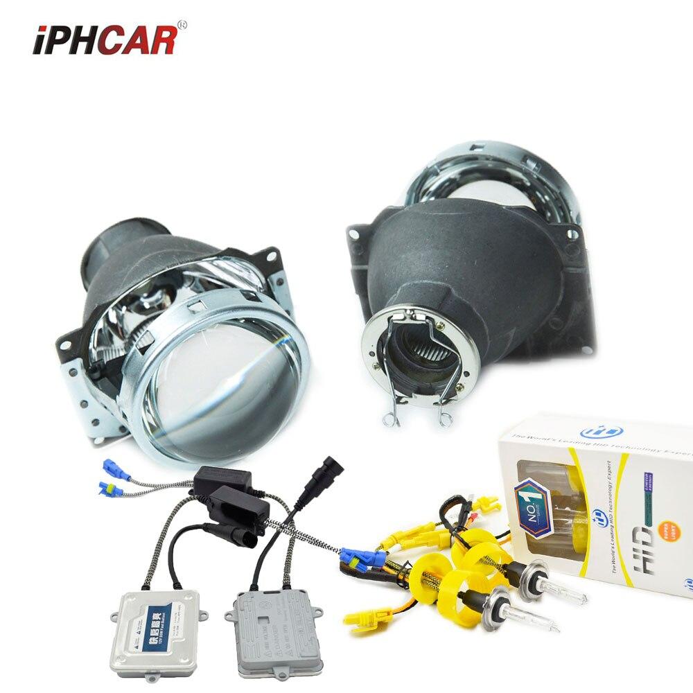 3.0 pouces H7Q5 Bixenon voiture hid objectif Du Projecteur support métallique h7 modèle AC kit xénon ampoule rénovation lentille mofify bricolage assemblée kit