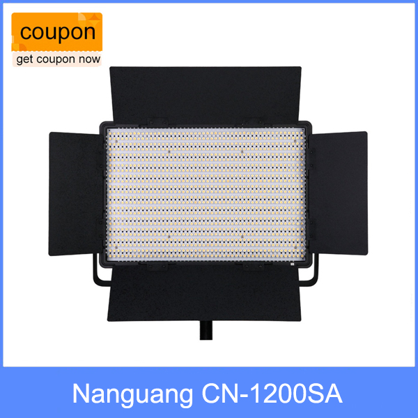 Nanguang CN-1200SA LEDS 8270 LM 5600K 10300 Lux LED Video Studio Light Panel with V Lock Battery Mount Extreme CRI RA 95 nanguang cn r640 cn r640 photography video studio 640 led continuous ring light 5600k day lighting led video light with tripod