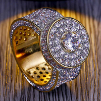 CZ Cluster Cubism ring High quality luxury zircon ring men's party tide products exquisite gift