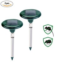 Mole Repellents Solar Powered Pest Repellent Stake Repeller With LED Sonic Scares Away Voles Gophers Rats Garden PY