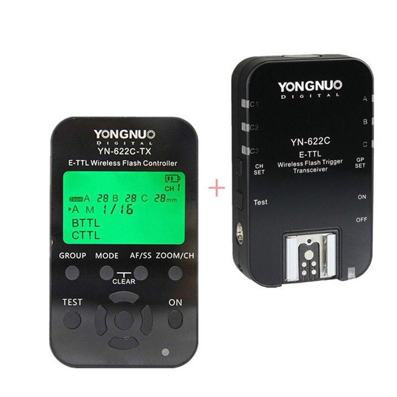 YONGNUO YN-622C-TX and YN-622C Transceiver as Flash Trigger system FOR Canon Flash 600EX-RT, 580EX II, 430EX II, 320EX, 270EX II yongnuo wireless remote flash trigger for canon 430 580 ex dslr digital camera