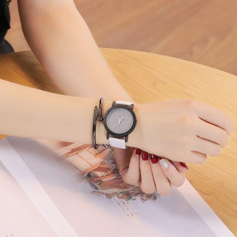Vansvar Cute Moon Stars Design Analog Wrist Watch Women Unique Romantic Starry Sky Dial Casual Fashion Quartz Watches Women Gift