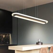 מודרני LED אורות תליון עבור משרד אוכל חדר מטבח בר אקריליק מלבן Luminaire תליון מנורת עבור בית