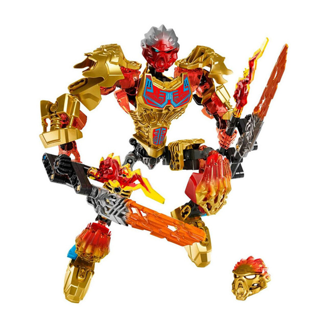 Tahu Master of Fire Figures Building Blocks Lego Bionicle Toys