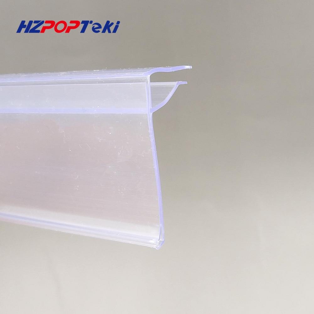 Plastic PVC Shelf Data Strips Clip On Mechandise Price Talker Sign Display Label Card Holder Strip