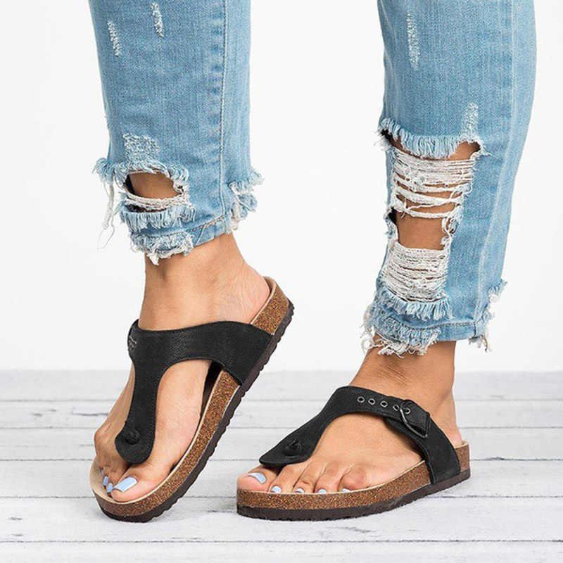 98fe5e323 ... Summer Women Sandalias 2019 Fashion Leopard Flat Sandals Beachslippers Flip  Flops Sandalia Feminina Plus Size 35 ...