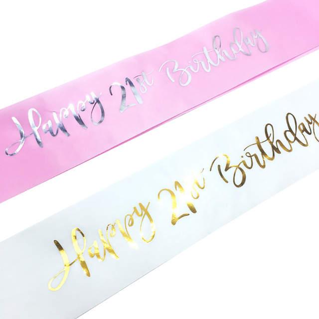 glitter happy 21st birthday