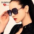 SUNRUN TR90 Big Frame Women Polarized Sunglasses Design Vintage Sun Glasses UV400 gafas de sol oculos TR6022