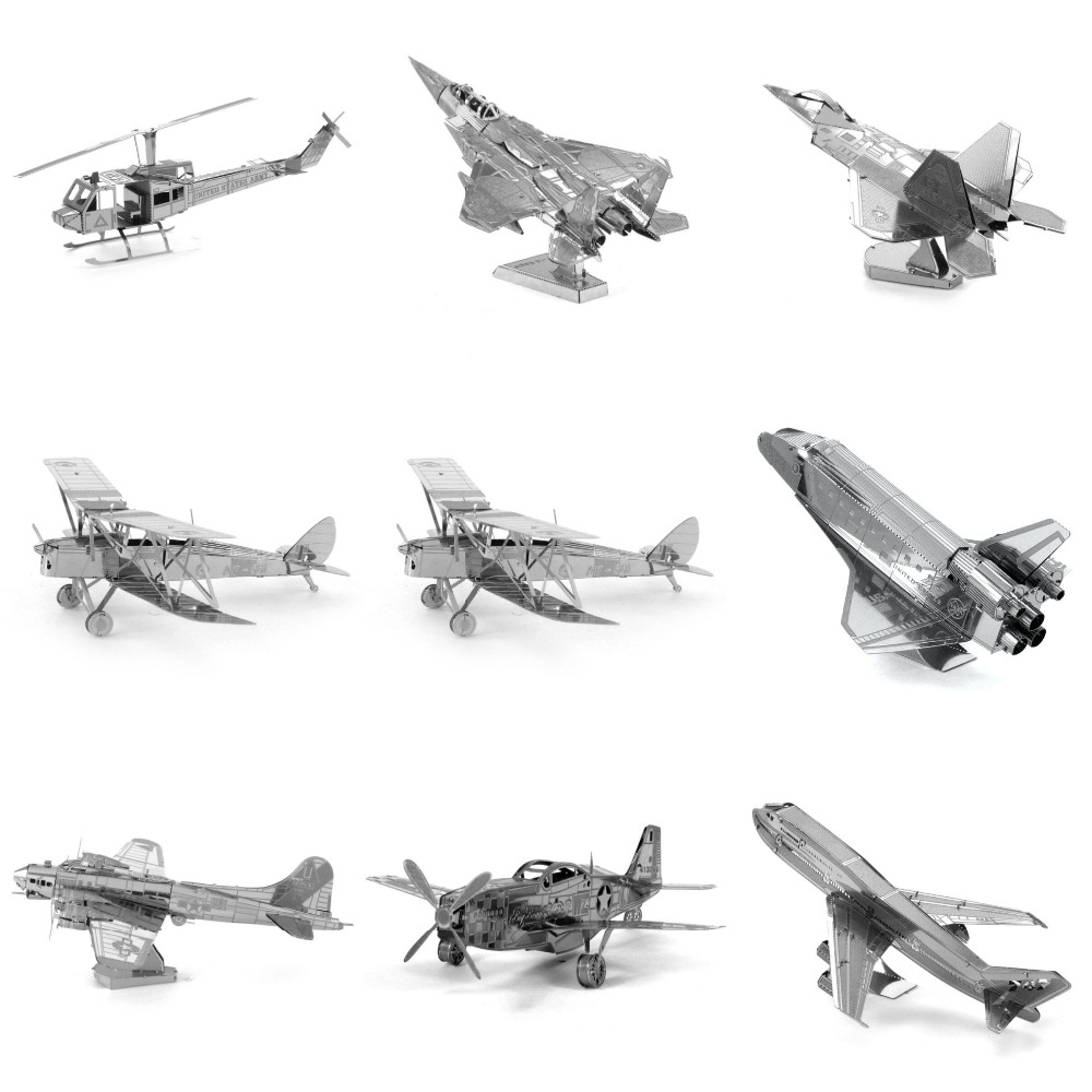 beautiful diy d metal puzzles for children adults jigsaw avro lancaster f raptor b flying f with. Black Bedroom Furniture Sets. Home Design Ideas