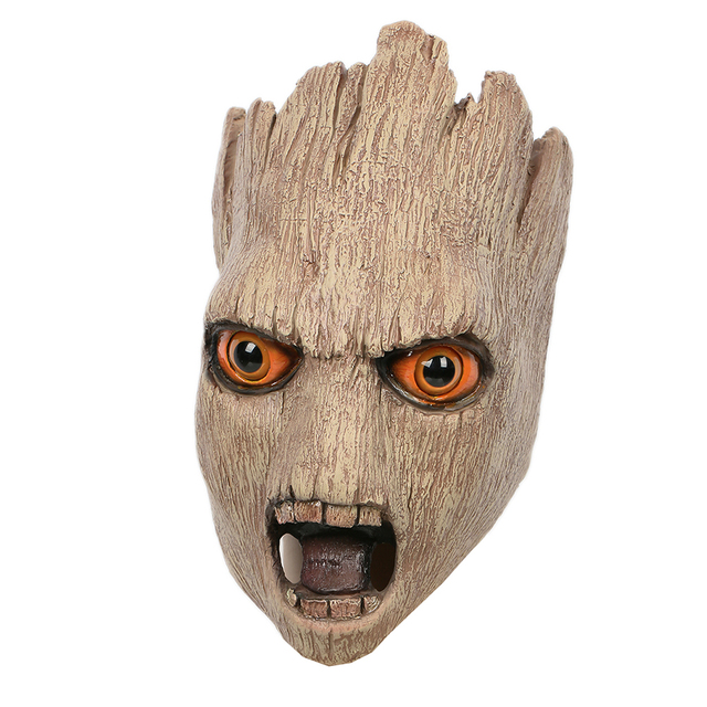 Coslive Guardians of the Galaxy Vol. 2 Groot Mask Full Head of Latex Light brown Mask for Halloween Cosplay One size fits most