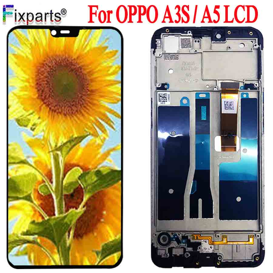 Original New <font><b>LCD</b></font> For <font><b>Oppo</b></font> A3S <font><b>LCD</b></font> Display Touch Screen Digitizer Assembly With Tools Replacement <font><b>A5</b></font> Display <font><b>OPPO</b></font> <font><b>A5</b></font> A3S <font><b>LCD</b></font> image
