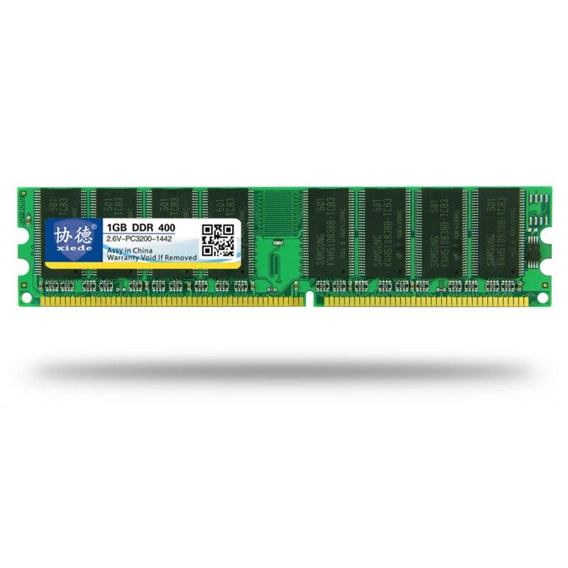 Venta al por mayor Xiede DDR 400 / PC3200 PC2700 512MB 1GB Memoria - Componentes informáticos