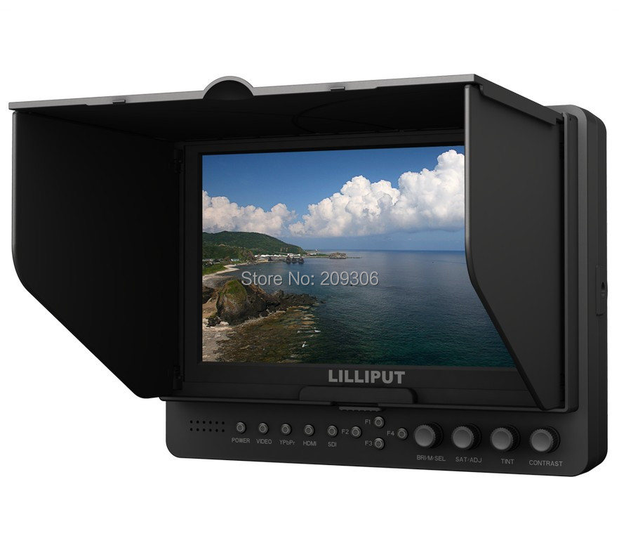 Lilliput 665/S 7 TFT LED HD camera field top HDMI 3G SDI monitor peaking YPbPr HDMI SDI input output on-camera field monitor