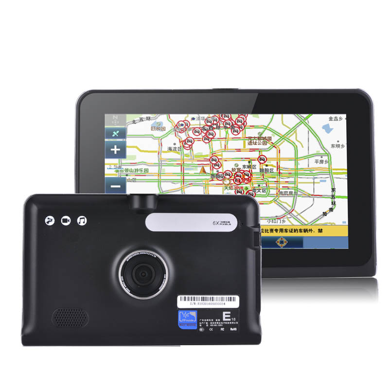7 inch GPS Android Navigation Capacitive Screen Car dvrs Recorder camcorder FM WIFI Truck vehicle gps Built in 16GB Free Map