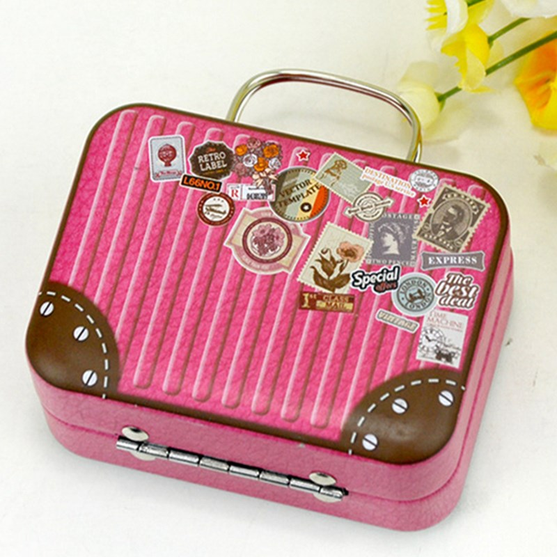 Money Box Tin Retro Suitcase Storage Container 1pc Continental Mini Handbag Candy Rectangular Small For Wedding Party In Boxes From Home Garden
