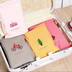 Модные дорожные сумки для хранения, сумка-Органайзер на молнии для одежды, нижнее белье, носки, сумка для хранения обуви, сумки для хранения