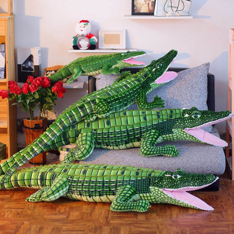 Giant Simulation Crocodile Plush Toys Big Stuffed Animals Doll Long Cushion Kids Toy Pillow Toys Gifts mr froger carcharodon megalodon model giant tooth shark sphyrna aquatic creatures wild animals zoo modeling plastic sea lift toy