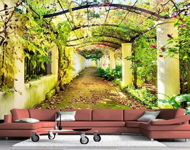 3d behang voor kamer bloem deur gallery veranda muurschilderingen