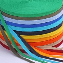 50 метров/рулон 10 мм Хлопок Елочка саржевая тесьма косой связывающий Скотч для обертывания одежды сумки швейная лента DIY ремесло 20 цветов