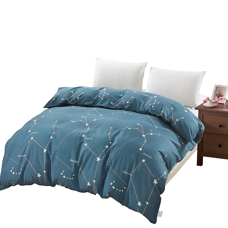 Home textile comforter cover blue star queen king twin full single duvet cover 100%cotton man 1pc quilt cover boys doona cover