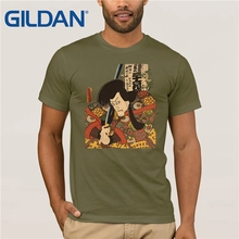 GILDAN japanese tattoo ukiyo-e Bushido kendo sword samurai T shirt