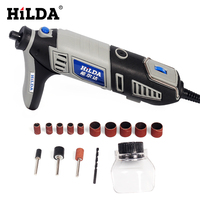 HILDA 220V 180W Variable Speed Dremel Style Electric Rotary Power Tool Mini Grinder with 14pcs Accessories Set Woodworking Tools