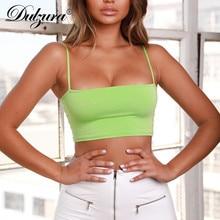 Dulzura women sexy sleeveless crop tank top boob tube top white black green solid camis 2018 summer cotton camisoles