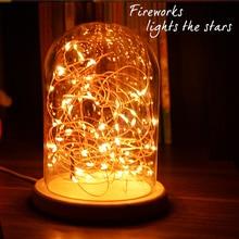 LED Новинка Медь Сказочных Огней 5 В USB LED Night Light Для Игрушка Стол Цветок Главная Украшение партии ночная