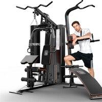 806A 7 в 1 комбинированный Training Integrated Фитнес оборудования тяга скамейке сидеть с песком тянуть вверх параллельно бар руку тренажер для мышц