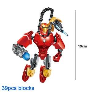 Image 3 - Avenger Siêu Anh Hùng Thor Đội Trưởng Mỹ Iron Man Siêu Nhân Buildable Hành Động Hình Khối Xây Dựng Đồ Chơi Gạch Tương Thích với