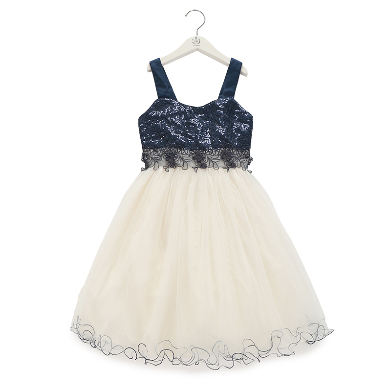 b6199f4837eb free shipping bonnie jean big girl dress for party girl ball gown dress kids  black and dark blue