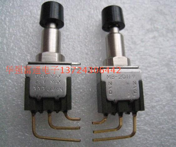 20PCS/LOT Original Japanese twisting switch MB-2011V self locking switch button switch belt locking 3 feet gold plated foot button switch 1977737 1 original
