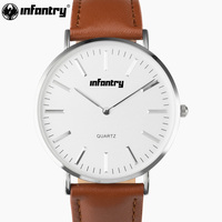 PACIFISTOR Mens Watches Casual Brown Leather Quartz Wrist Watches Unisex Brown Leather Top Brand Luxury Antique