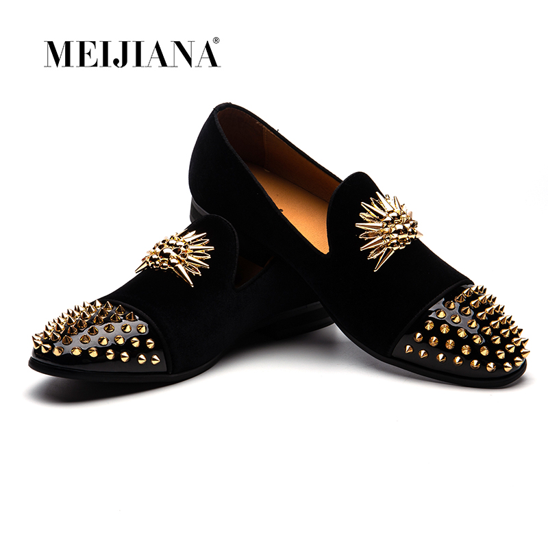 MEIJIANA Men Party Shoes High end Handmade Loafers Shoes Brand Mens Loafers Genuine Leather Comfortable Luxury