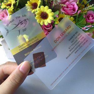 Image 5 - 100 pcs/lot custom Transparent PVC visit cards Customized clear/frost Business Card printing