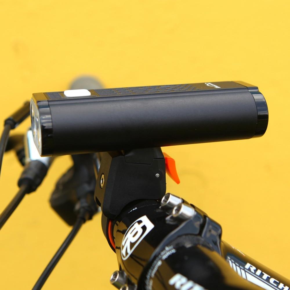 Mago americano Monteer 1400 Luz de bicicleta USB carga compatible MTB bicicleta de carretera linterna ciclismo impermeable Faro de bicicleta - 3
